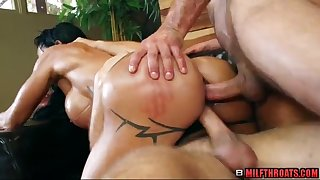 Big ass mature threesome sex group sex and massage