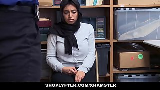 shoplyfter - lp officer fucks hot muslim teen with huge rack