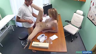Young babe Bell Claire fucked by doctor in medical spy cam video