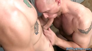 Gay stud riding dick